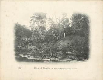 """CPA CHILI """"Détroit de Magellan, Baie Fortescue, une rivière"""""""