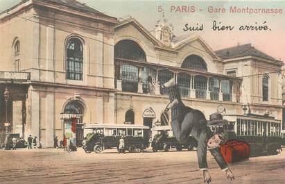 "CPA FRANCE 75 ""Paris"" / Série ""N°5, Gare Montparnasse"""