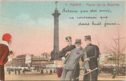 "CPA FRANCE 75 ""Paris"" / Série ""N°7, Place de la Bastille"""