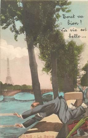 """CPA FRANCE 75 """"Paris"""" / Série """"N°8, La Seine"""""""