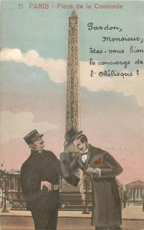 """CPA FRANCE 75 """"Paris"""" / Série """"N°11, Place de la Concorde"""""""