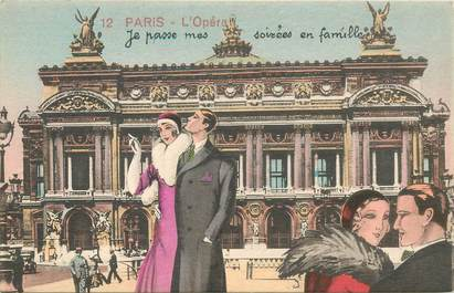 "CPA FRANCE 75 ""Paris"" / Série ""N°12 ""Place de l'Opéra"""