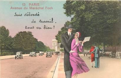 """CPA FRANCE 75 """"Paris"""" / Série """"N°13 """"Avenue du Maréchal Foch"""""""