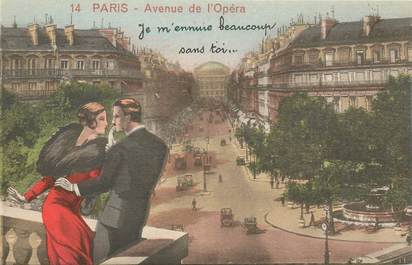 "CPA FRANCE 75 ""Paris"" / Série ""N°14 ""Avenue de l'Opéra"""