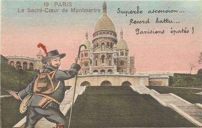 """CPA FRANCE 75 """"Paris"""" / Série """"N°19, Le Sacré Coeur de Montmartre"""""""