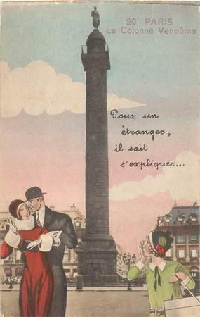 """CPA FRANCE 75 """"Paris"""" / Série """"N°20, La Colonne Vendôme"""""""
