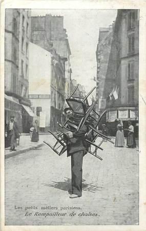 """CPA FRANCE 75 """"Paris"""" / Série les Petits Métiers parisiens / Le Rempailleur de Chaises"""