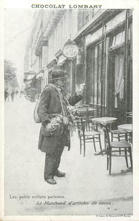 """CPA FRANCE 75 """"Paris"""" / Série les Petits Métiers parisiens / Chocolat Lombart, / Le marchand d'articles de caves"""