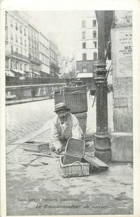 """CPA FRANCE 75 """"Paris"""" / Série les Petits Métiers parisiens / Chocolat Taylor & Cie / Le Raccommodeur de paniers"""