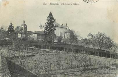 """CPA FRANCE 74 """"Marlioz, Eglise et chateau"""""""