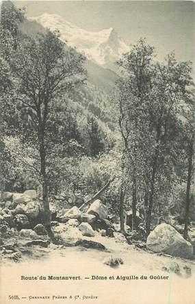 """CPA FRANCE 74 """"Route du Montanvert, Dôme et Aiguille du Goûter"""""""