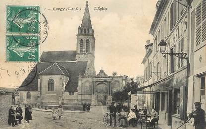 "/ CPA FRANCE 95 ""Cergy, l'église"""