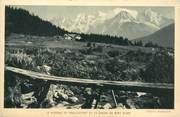 """74 Haute Savoie CPA FRANCE 74 """"Plateau de Praz Coutant et la Chaîne du Mont Blanc"""""""