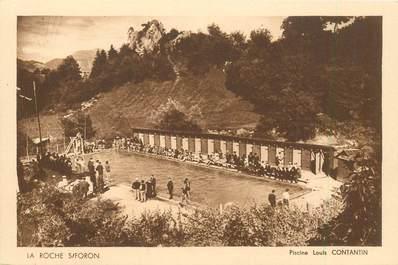 "CPA FRANCE 74 ""Roche sur Foron, piscine Louis Contantin"""