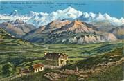 """74 Haute Savoie CPA FRANCE 74 """"Panorama du Mont Blanc vu du Salève"""""""