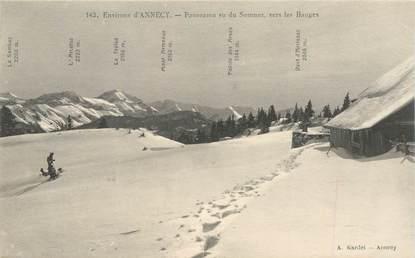 """CPA FRANCE 74 """"Env. d'Annecy, Panorama vu du Semnoz, vers les Bauges"""""""