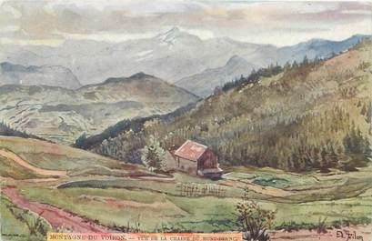 """CPA FRANCE 74 """"Vue de la chaîne du Mont Blanc"""""""