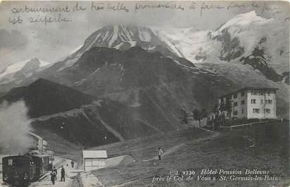 """CPA FRANCE 74 """"Hotel Pension Bellevue près du Col de Voza à Saint Gervais les Bains"""""""