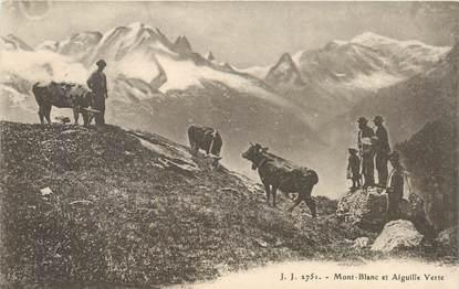 """CPA FRANCE 74 """"Mont Blanc et Aiguille Verte"""""""