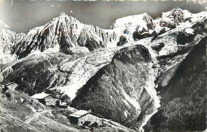 """CPSM FRANCE 74 """"Chalets dans le massif du Mont Blanc"""""""