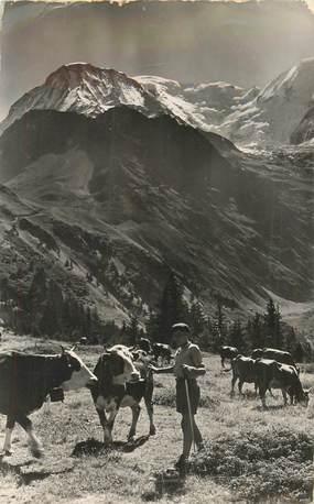 """CPSM FRANCE 74 """"Berger dans l'Alpage du Mont Blanc"""""""