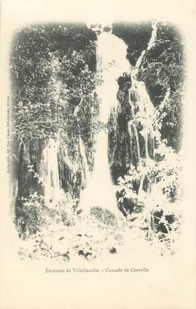 """CPA FRANCE 69 """"Env. de Villefranche, Cascade de Corcelle"""""""