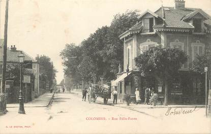 """CPA FRANCE 92 """"Colombes, rue Félix Faure"""""""