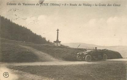 "CPA FRANCE 69 ""Colonie de vacances de Joux, route de Violay"""