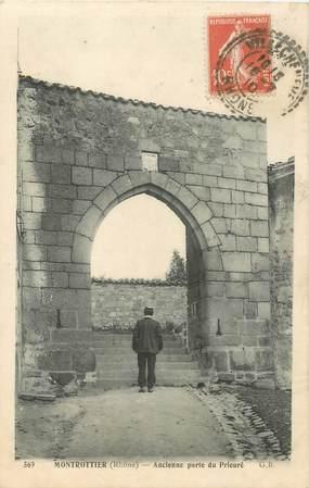 """CPA FRANCE 69 """"Montrottier, ancienne porte du Prieuré"""""""