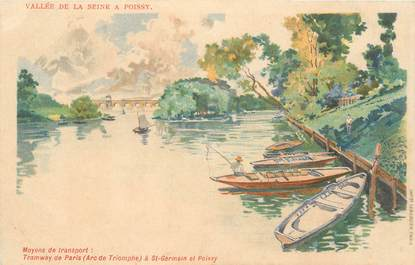 "CPA FRANCE 78 ""Poissy"" / GRUSS"