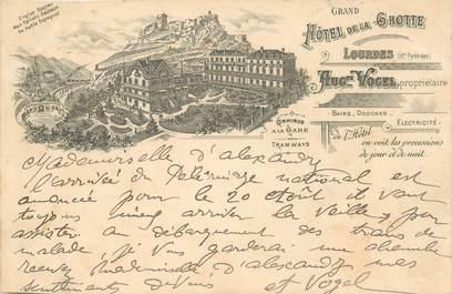 """CPA FRANCE 65 """"Lourdes, Grand Hotel de la Grotte"""" / GRUSS"""