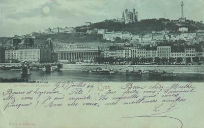 """CPA FRANCE 69 """"Lyon"""" / BLEU A LA LUNE"""