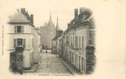 "/ CPA FRANCE 91 ""Dourdan, la porte de Chartres"""
