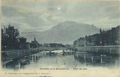 "CPA FRANCE 38 ""Grenoble"" / BLEU A LA LUNE"
