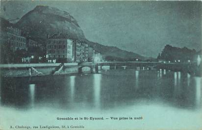 "CPA FRANCE 38 ""Grenoble et le Saint Eynard"" / BLEU A LA LUNE"