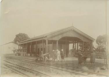 """PHOTOGRAPHIE ORIGINALE / MADAGASCAR """"Gare d'Aniverane"""""""