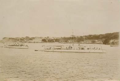 """PHOTOGRAPHIE ORIGINALE / MADAGASCAR """"Bateaux torpilleurs de la Défense mobile"""""""