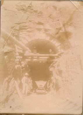 "PHOTOGRAPHIE ORIGINALE / MADAGASCAR ""Construction Tunnel Galliéni"""