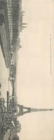 """CPA PANORAMIQUE FRANCE 75 """"Paris, Perspective sur la Seine, du Pont de Grenelle"""" / TOUR EIFFEL"""