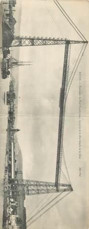 """CPA PANORAMIQUE FRANCE 76 """"Rouen, le Pont transbordeur"""""""