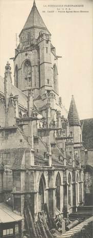 """CPA PANORAMIQUE FRANCE 14 """"Caen, Eglise Saint Etienne"""""""