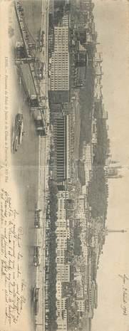 """CPA PANORAMIQUE FRANCE 69 """"Lyon, Panorama du Palias de Justice"""""""