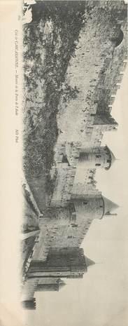 """CPA PANORAMIQUE FRANCE 11 """"Carcassonne, montée de la Porte de l'Aude"""""""