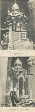 """CPA PANORAMIQUE FRANCE 80 """"Albert, Basilique Notre Dame de Brebières"""""""