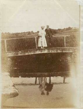 """PHOTO ORIGINALE FRANCE 91 """"Pont du Moulin de Dampierre, 1909"""""""