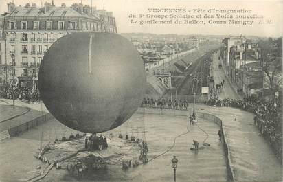 """CPA FRANCE 94 """"Vincennes, Fête d'Inauguration, le Ballon"""""""