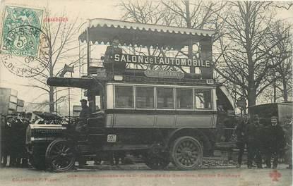 """CPA FRANCE 75 """"Paris, Omnibus Automobile"""""""