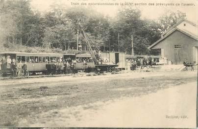 """CPA FRANCE 58 """"Train des excursionnistes de la 2076e section des prévoyants de l'avenir"""""""