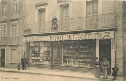 """CPA FRANCE 93 """"Rosny sous Bois, carte d'éditeur Malard, Mercerie, chapellerie, Epicerie fine, chaussures """" / COMMERCE"""