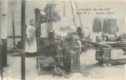 """CPA FRANCE 75 """"Paris, Exposition Grand Palais, coupole d'Antin, atelier de Salvert, Stand n°6"""""""